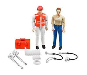 Bruder Figurenset Rettungsdienst Sanitäter und Frau Spielfiguren Spielzeug NEU