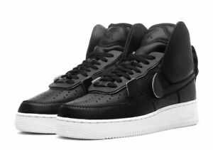 new styles b258c 8d79a Details about NIKE AIR FORCE 1 AF1 HIGH PSNY TRAINERS UK 7 EU 41 BLACK  AO9292-002 LEATHER