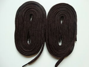 2 Pairs Laces thick flat 140cm brown  For canvas trainer boot skater convers - <span itemprop=availableAtOrFrom>Leicester, United Kingdom</span> - 2 Pairs Laces thick flat 140cm brown  For canvas trainer boot skater convers - Leicester, United Kingdom