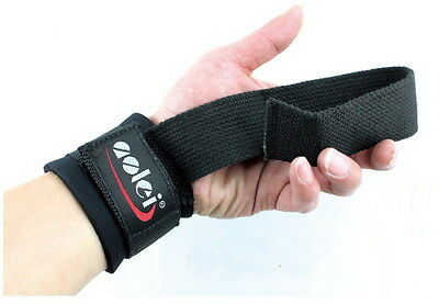 Weight Lifting Power Straps Weightlifting Bodybuilding Gym Bar Wrist Support