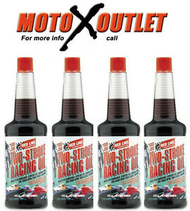 Details About Red Line Two Stroke Oil 2 Cycle Racing Synthetic 12oz Bottle Pack Of 4