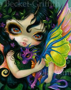 Jasmine-Becket-Griffith-art-print-cute-baby-dragon-5-SIGNED-Darling-Dragonling-V
