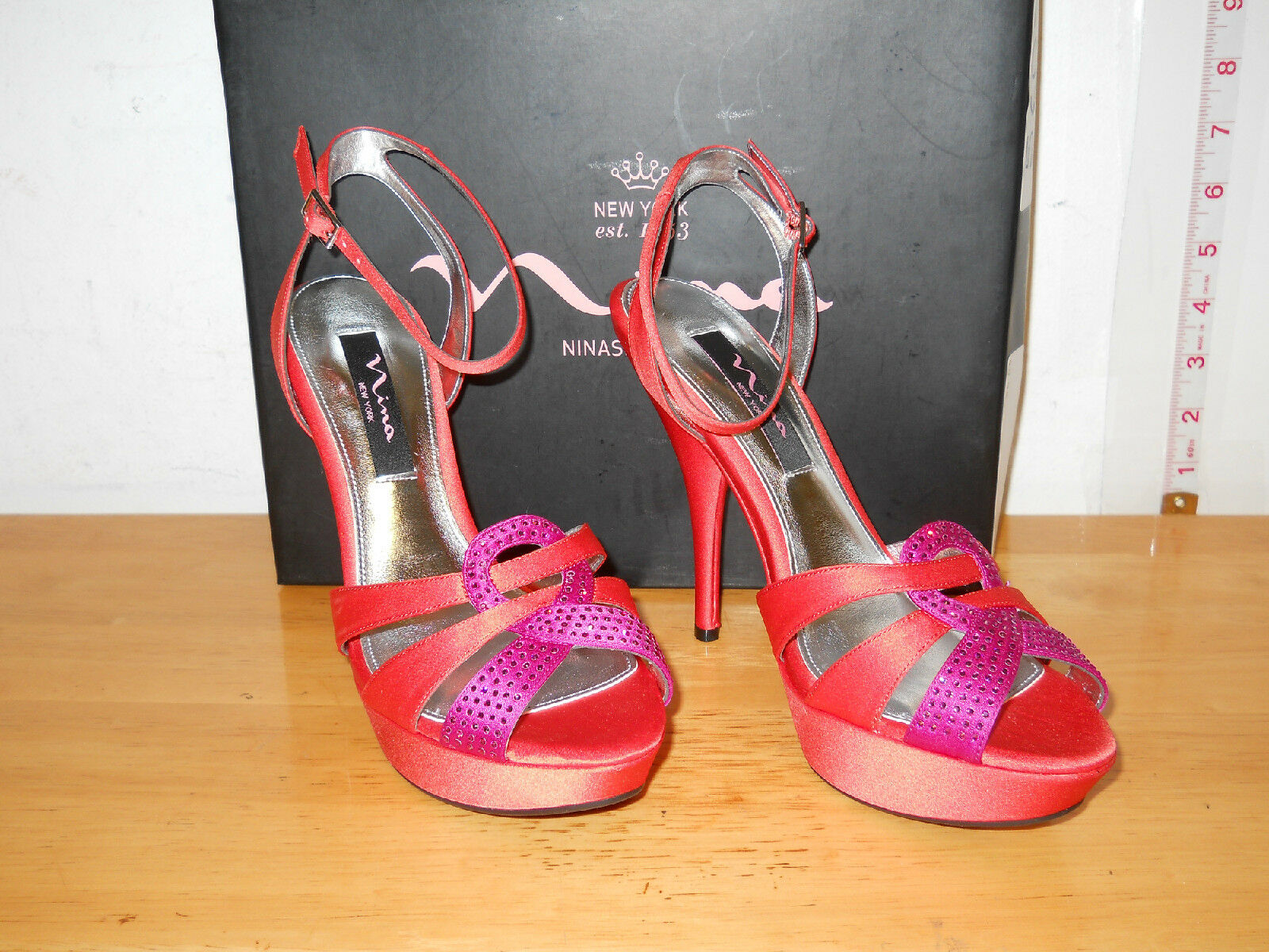 Nina New Damenschuhe Sammi Heels LS Coral Heels Sammi 8 M Schuhes NWB 92bba3