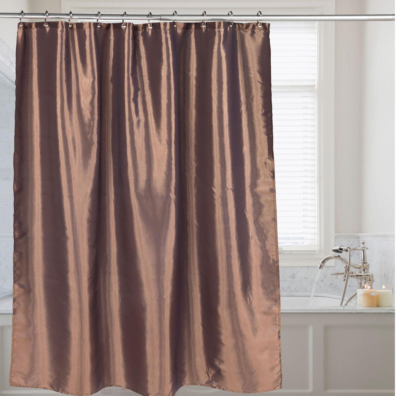 Purple Shimmer Faux Silk Fabric Shower Curtain Shower Curtains