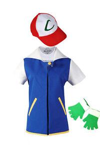 Pokemon go ash ketchum trainer costume cosplay shirt image is loading pokemon go ash ketchum trainer costume cosplay shirt solutioingenieria Images