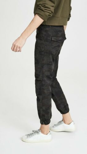 Nili Lotan Charcoal Camo Military Pants. Size 4