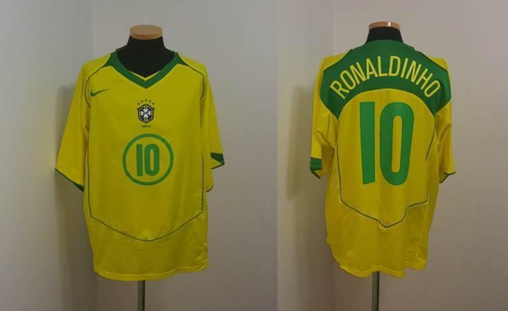 Camiseta Jersey (XL) Brasil Ronaldinho Barcelona PSG Milán Gremio Italia Fútbol