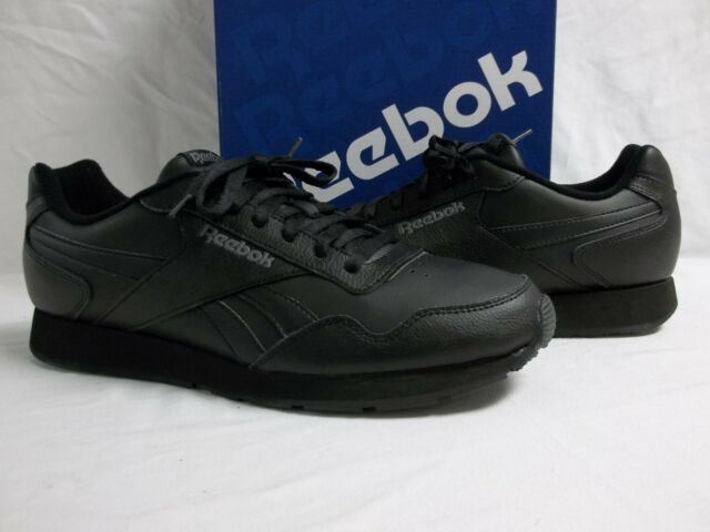 adc30b98bb30f Reebok 7.5 M Royal Glide Black Leather Athletic Sneakers New Womens Shoes  NWOB