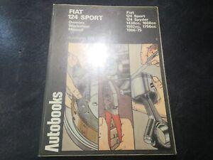 1966-1975-Fiat-124-Sport-Autobook-Shop-Manual-Fiat-124-Spyder-Convertible-Coupe