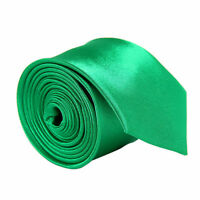 Classic Skinny Men's Slim Tie Solid Color Plain Silk Jacquard Woven Necktie