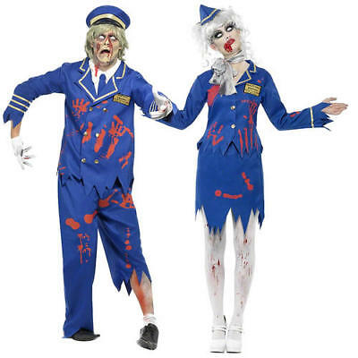 Gehorsam Zombie Pilot Uniform Adults Fancy Dress Airline Cabin Crew Halloween Costumes Hitze Und Durst Lindern.