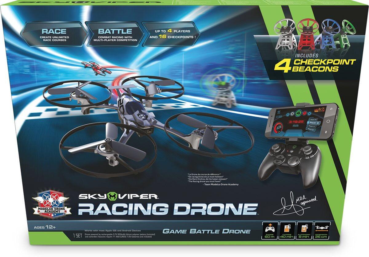 Sky Viper MDA RACING Drone Quadcopter 43.5 x 32.5cm Nero Rosso