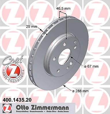 Disco de Freno (2 Piezas) Coat Z - Zimmermann 400.1435.20