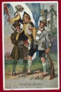 German Third Reich  postcard greetings from Munich 1933
