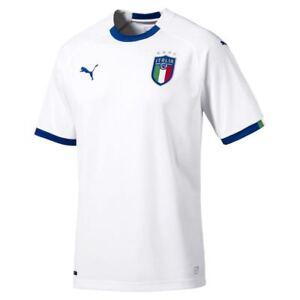 Puma-Mens-Football-Soccer-Italy-Italia-FIGC-Away-Short-Sleeve-Shirt-Jersey-2018