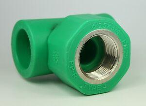 Aqua-Plus-PPR-T-PEZZO-25mm-IG-3-4-pollici-25mm-TUBO-ACQUA-CAVO-RISCALDAMENTO