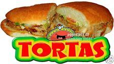 "TORTAS Decal 14"" Sandwich Restaurant Concession Signs Food Truck Menu"