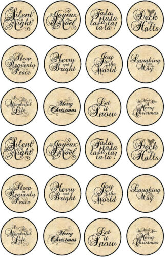 Christmas quotes on oval /& round glossy stickers bottlecap you choose size color