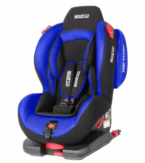 Sparco Child Seat F500i EVO ISOFIX BLUE ECE Safety Auto Car Baby Secure NEW 2018