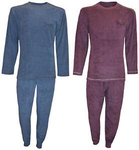 in drei Farben,V-Ausschnitt,Baumwolle,Gr Herren Schlafanzug Pyjama,Lang M-XXL