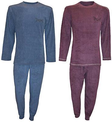 Herren Frottee Schlafanzug mit Rundhals-Ausschnitt Moonline