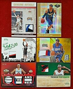 Allen Iverson Panini Prizm UD Topps Chrome Refractor PSA Gold AUTO Patch 3/4