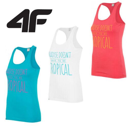 Nouveau 4F-femme tank débardeur fitness gym active stretch sports t-shirt fit travail