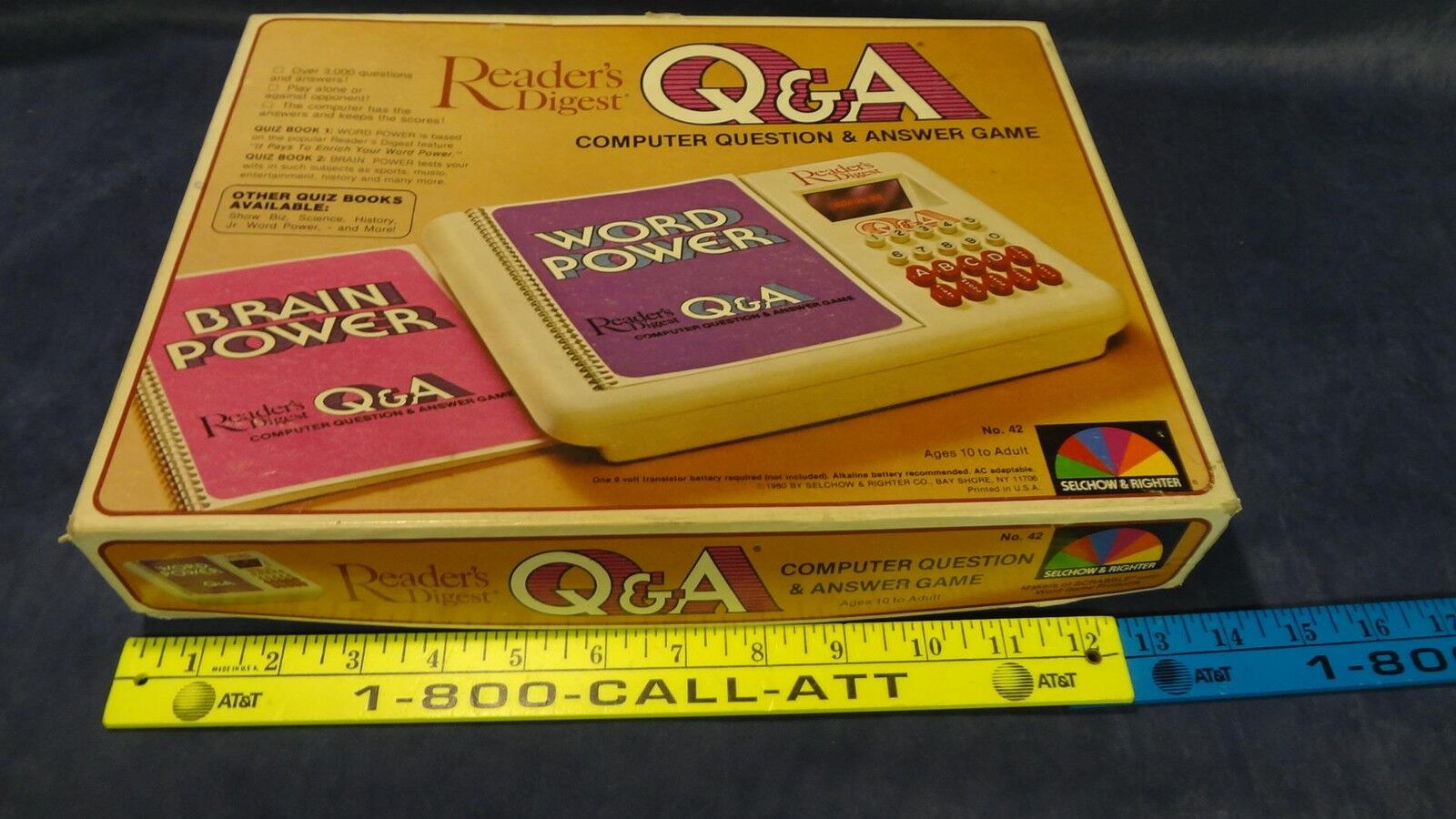 Readers Digest Q&A Computer Question And Answer Game 1980 Handheld Electronic