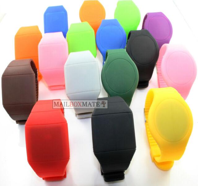 Digital LED Touch Screen Sport Silicone Bracelet Wrist Watch Unisex