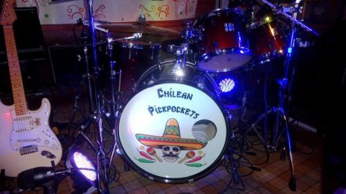 CUSTOM BASS DRUM DECAL personalised artwork and band logo design available