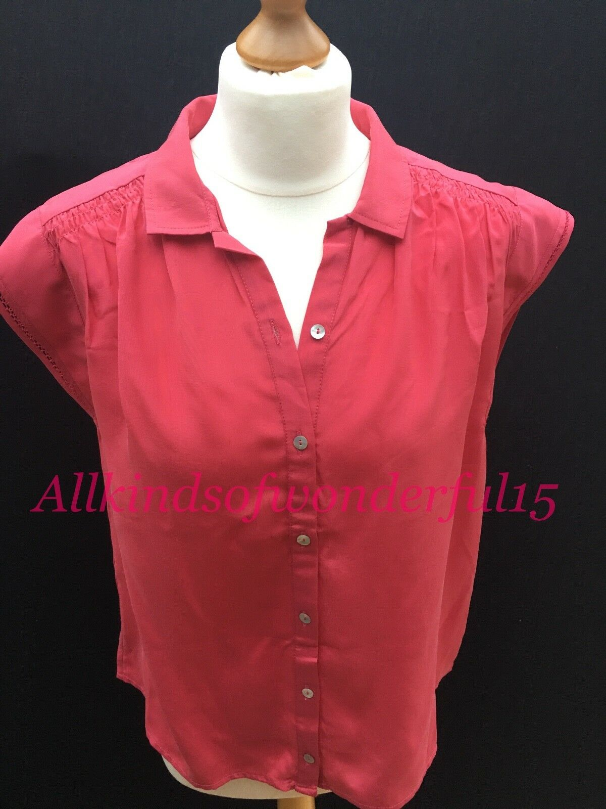 Pyrus Muse Blouse in Magenta Silk RRP Brand New With Tags