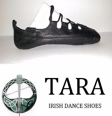 Zapatos de Cuero Irish Dance Bombas Pomps Suave Carrete Gillie Tara Brona hecho a mano