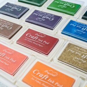 Large-Rubber-Stamps-Craft-Pigment-Ink-Pad-For-Paper-Wood-Fabric-15-Colours-Craft