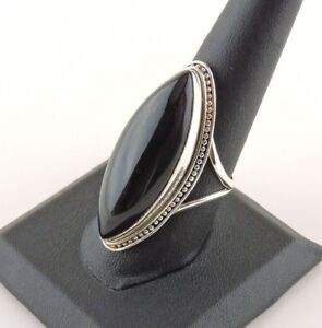 Sterling-Silver-32-ct-Marquise-Black-Onyx-Ring