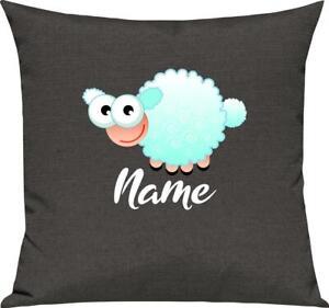 Kinder Kissen, Schaf Schäfchen Sheep mit Wunschnamen Tiere Tier Natur, Kuschelki