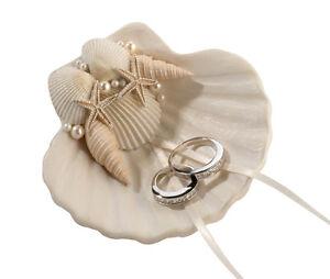 Beautiful New Wedding Ring Holder Seashell Ring Holder Ring Cushion