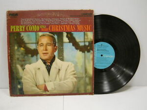 Vintage Perry Como Sings Merry Christmas Music Vinyl Record (1961 ...