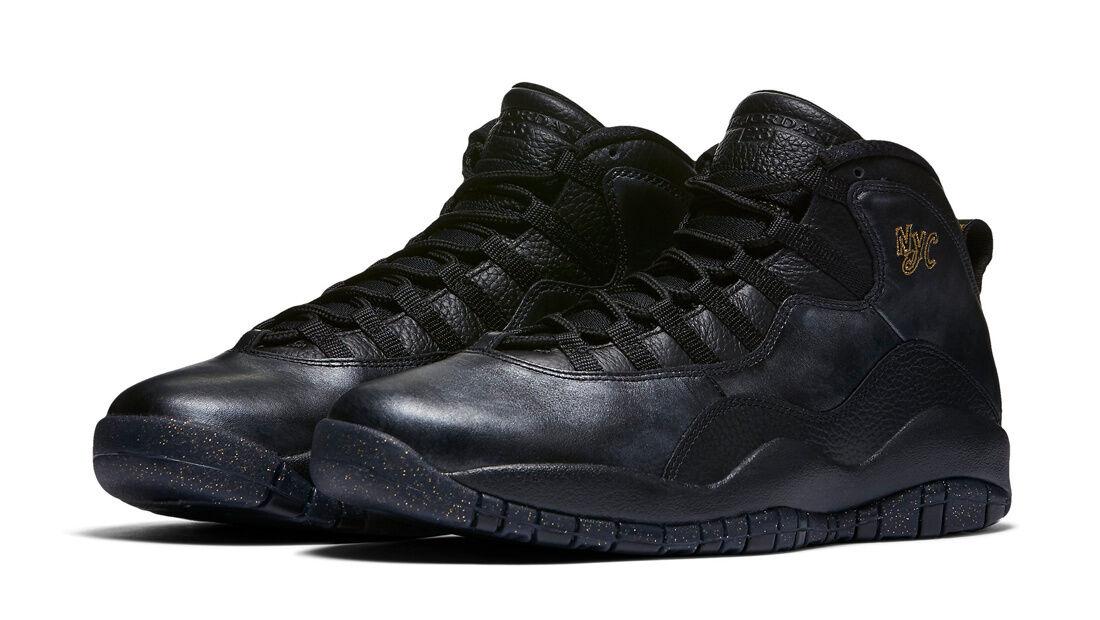 Nike Air Jordan Retro X 10 NYC City Pack Black Metallic Gold 310805-012 Seasonal clearance sale