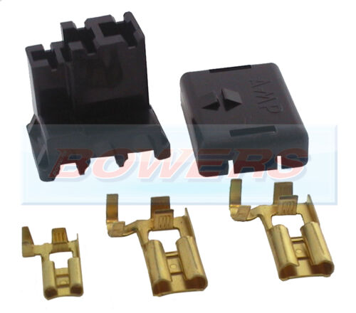 A127 ACR ALTERNATOR 3 PIN WIRING CONNECTOR PLUG LUCAS/BOSCH + TERMINALS