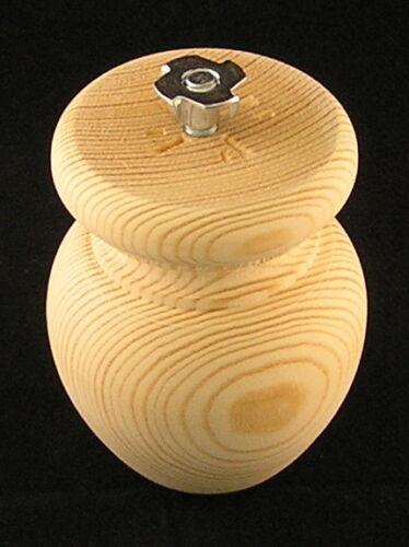 confezione da 4 IN LEGNO MOBILI PINO PALLA PIEDI 83mm Ø x 100mm Bullone /&