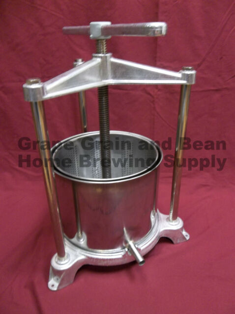 Aluminum/Stainless 5.5L Fruit Press by Ferrari, Wine and Fruit Press, Italy Made
