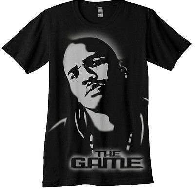 The Game Airbrush Stencil shirt airbrushed hip hop rap