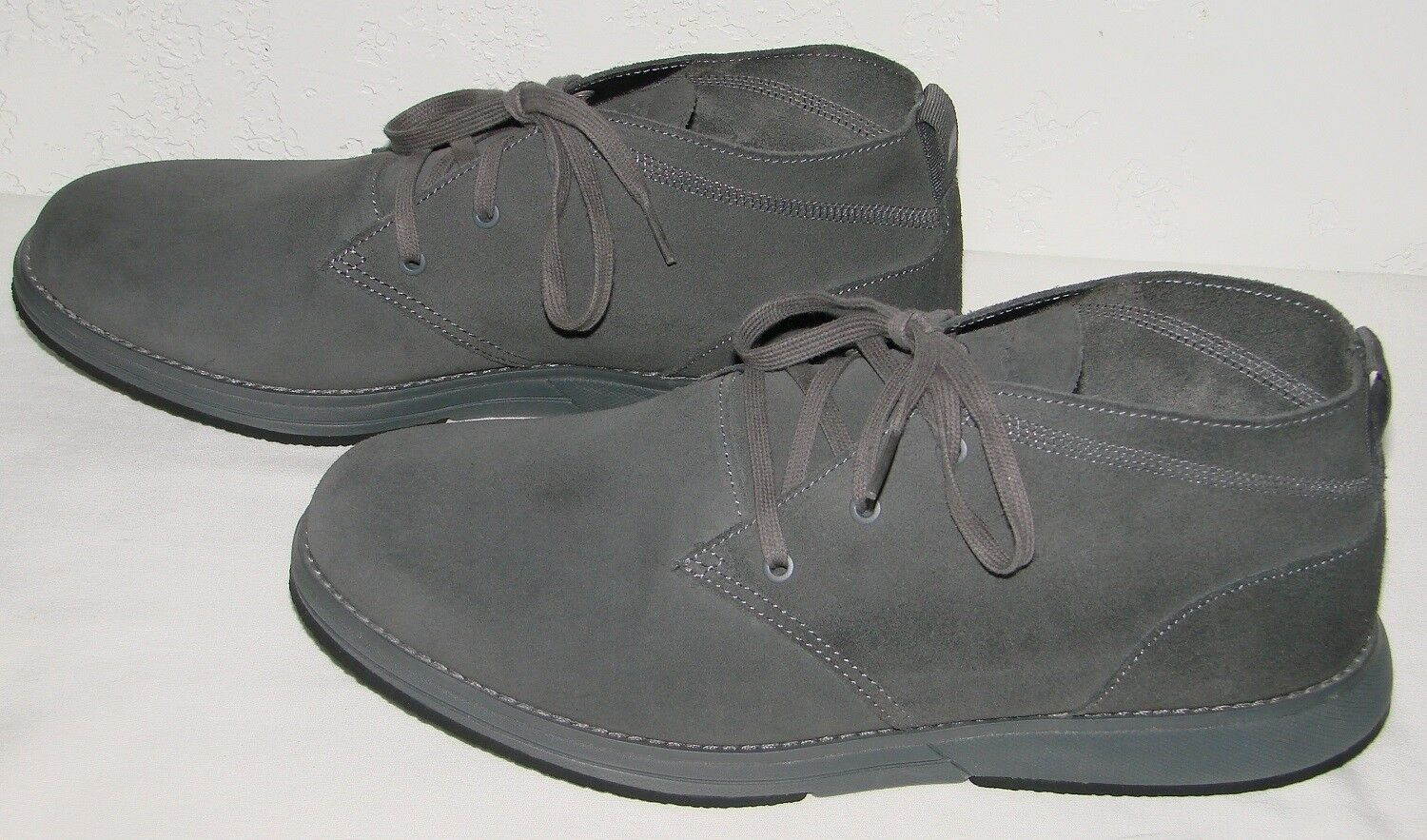 Skechers Mens On the Go Kasual Grey Suede Chukka Boots 53755 Size 10.5