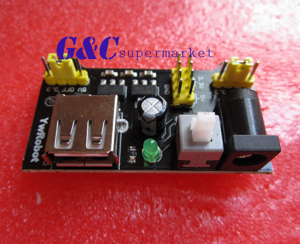 10PCS quality MB102 3.3V/5V Breadboard Power Supply Module For Arduino Board M18