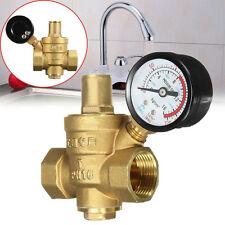 DN20 NPT 3/4'' Adjustable Brass Water Pressure Regulator Reducer Valves w/ Gauge