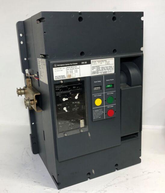 Westinghouse SPB 100 2500a Pow-r EO Circuit Breaker W/ 2500 Amp Plug on