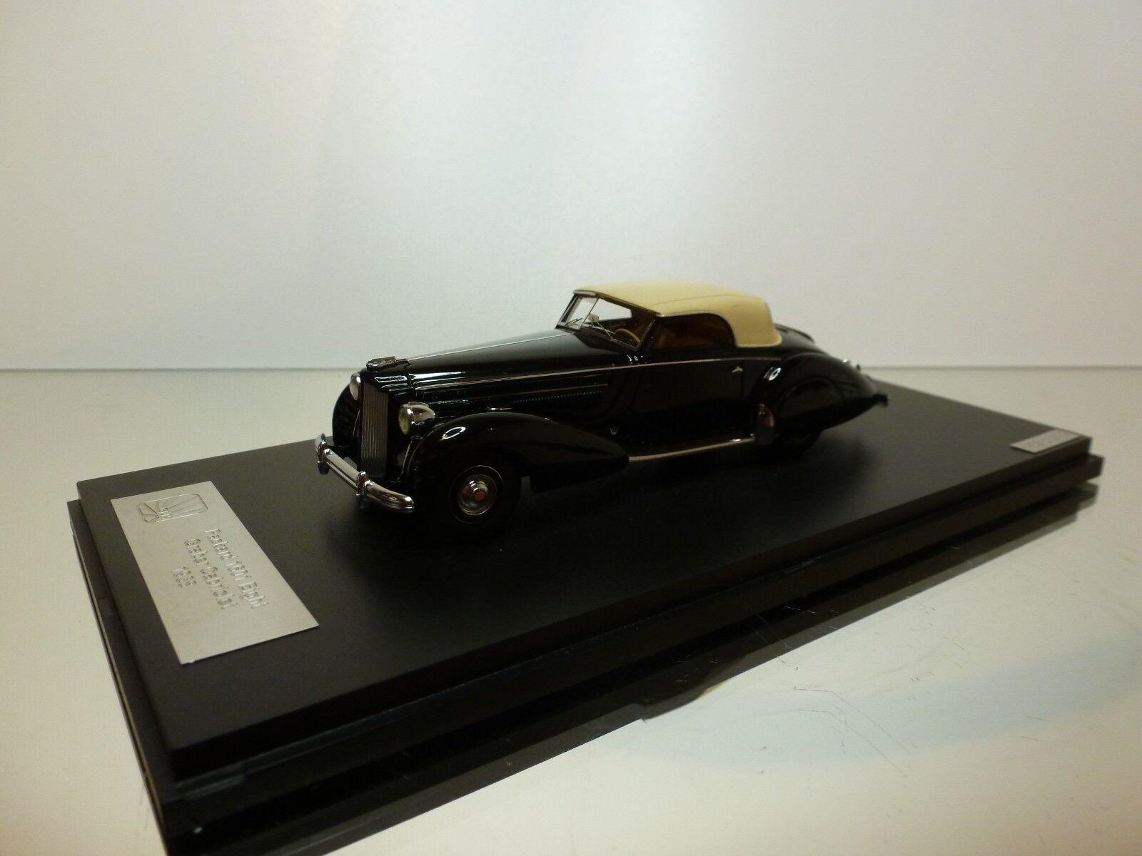 GLM VerpackungARD 1601 EIGHT GRABER CABRIOLET 1938 - schwarz 1 43 - EXCELLENT - 45 40