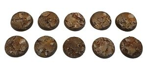 25mm-Resin-Wargaming-Textured-Rocky-Terrain-Bases-Warhammer-Warmachine-D-amp-D-Small