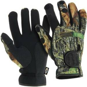 Neoprene-Camo-Gloves-Folding-Fingers-Fishing-Shooting-Hunting-Large-NGT