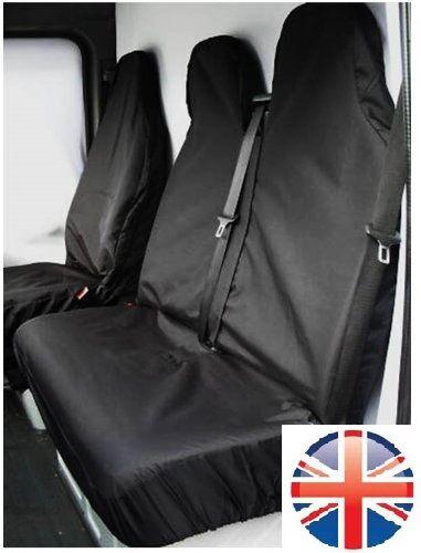FORD TRANSIT (00-06) MK6 HEAVY DUTY BLACK WATERPROOF VAN SEAT COVERS 2+1